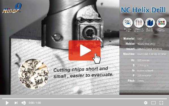 The formation of chip in slow motion by Nine9 NC Helix Drill