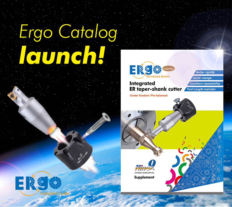 Nine9 Ergo Integrated ER taper-shank cutter catalog