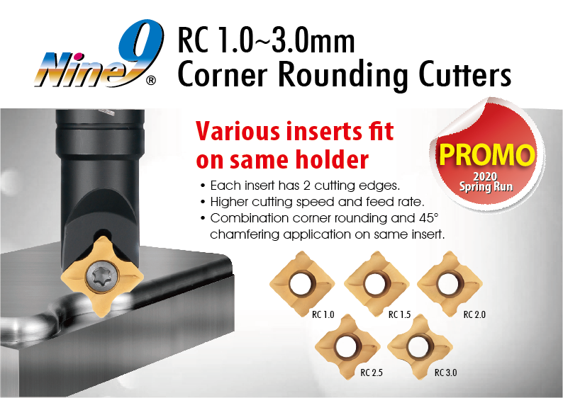 Nine-9 corner rounding cutters are on sale