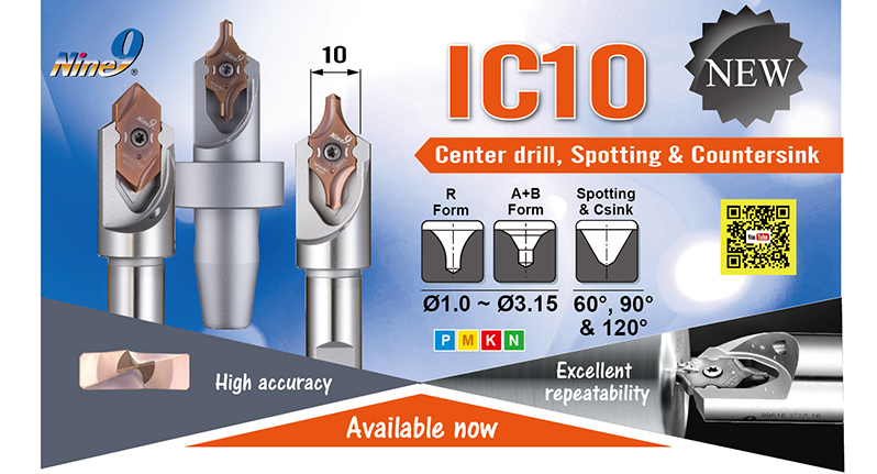 Nine9 new item- IC10 center drill, spotting and countersink