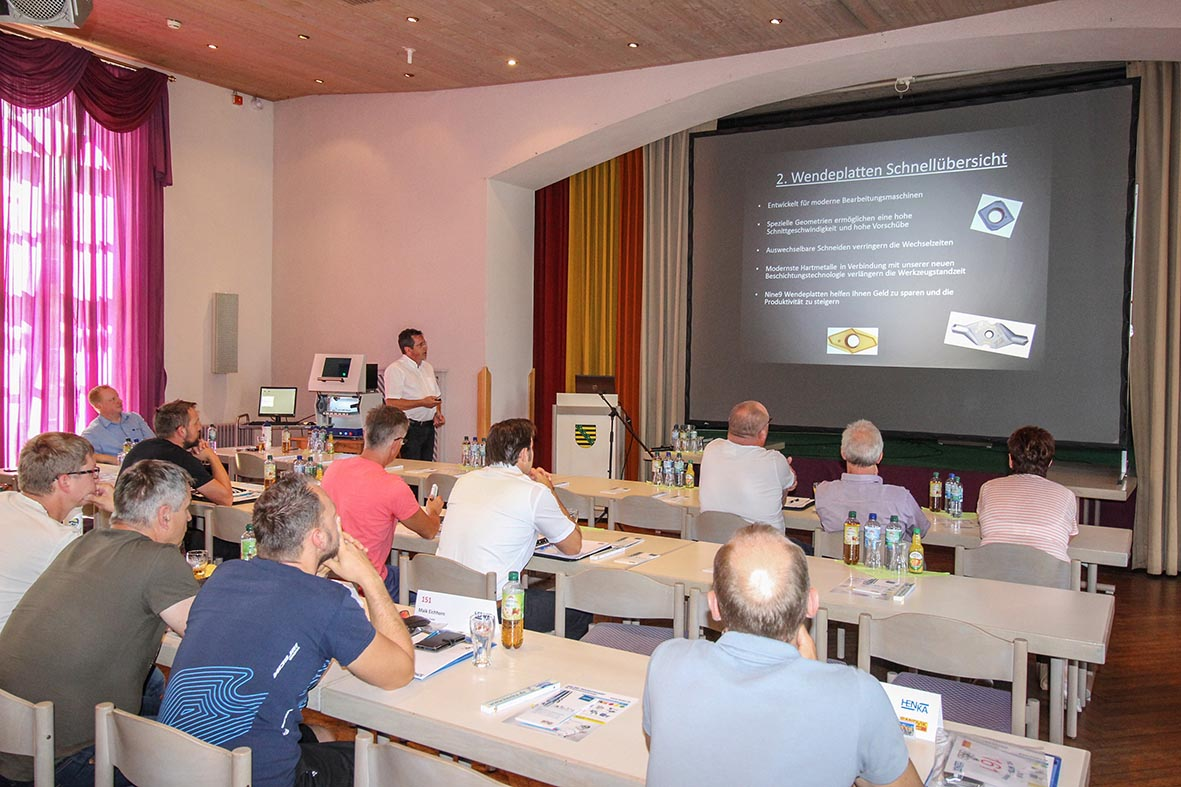 Frank is promoting Nine-9 cutting tools in Henka Germany