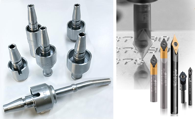 Supply engraving tools for part marking the medical probes