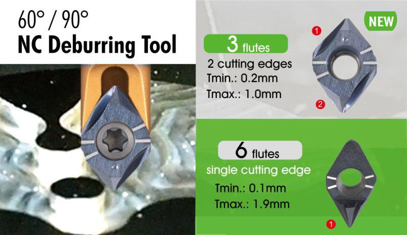 Nine9 45 adn 90 degree NC Deburring carbide insert
