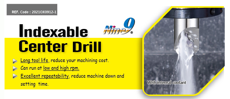 Nine9 indexable center drill