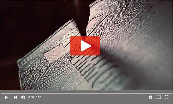 Nine9 engraving tool Milling on angled surface acrylic