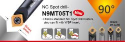 90° NC Spot Drill - spotting diameter 1~8mm, 5, 6 and 8mm dia shank