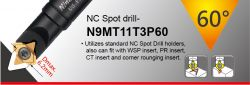 60 Degree NC Spot Drill - spotting diameter 2~6.2mm