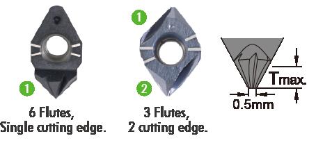 60 & 90 deg indexable deburring carbide insert