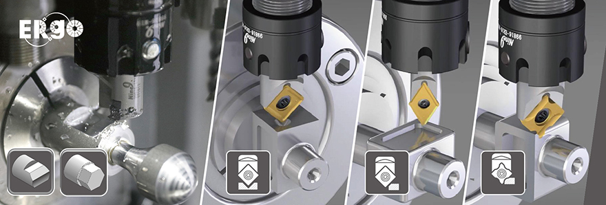 Ergo indexable milling spotting chamfering cutter