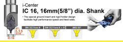 "4mm to 5mm and 3/16"" dia.- DIN332 Form R, FormA+B and ANSI 60 degree indexable centre drill"