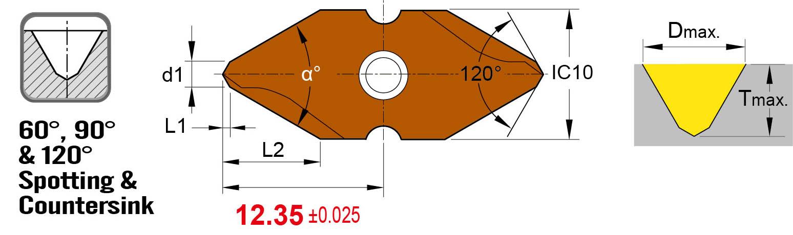 60 90 120 deg_Nine9 insert type spotting and countersink