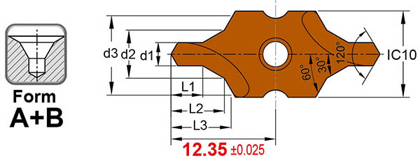 Dia 1 to 3.15mm B type center drill