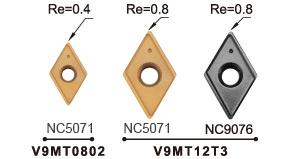 Nine-9 60 deg spotting and grooving carbide insert