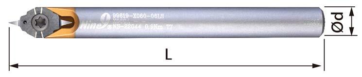 30 degree X060 carbide engraving cutter