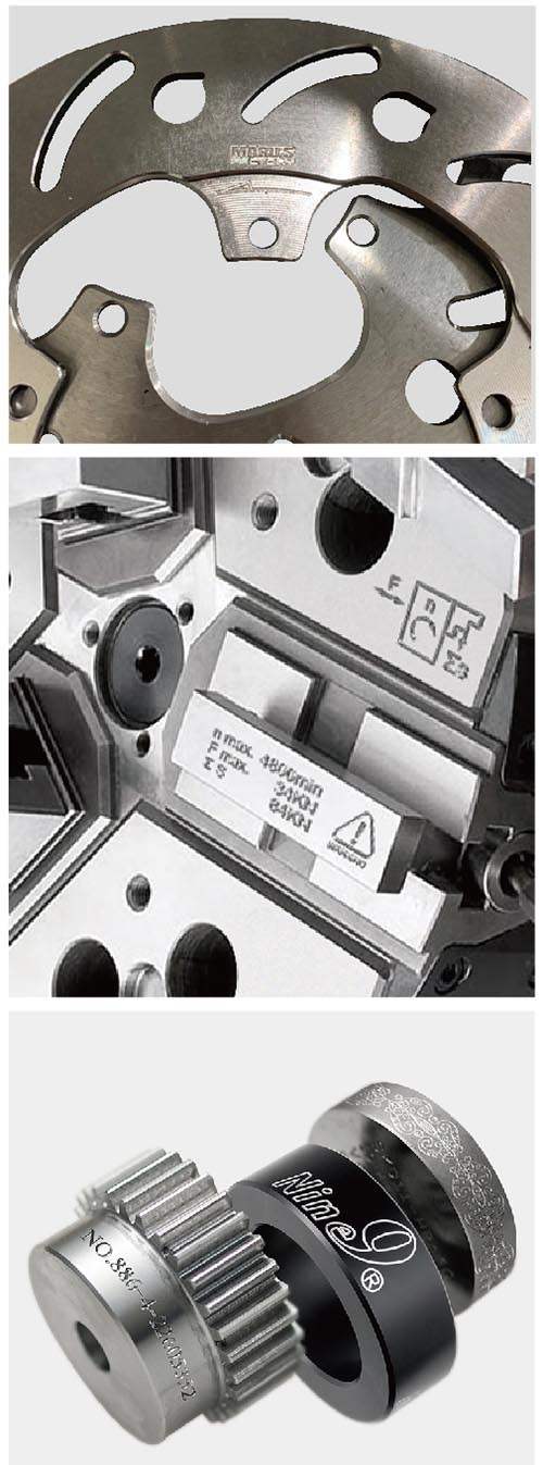Engraving on machine components